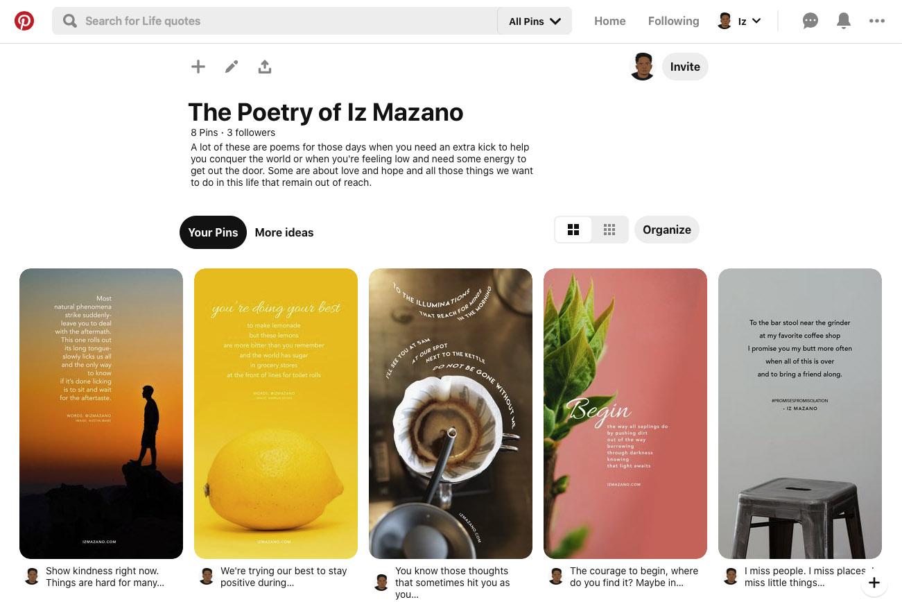 Iz Mazano on Pinterest - Screen Shot 2020-03-30 at 8.50.39 PM