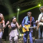 Tuku and his band on stage at the Drumbeat Festival, Soweto, May 2014 | FungaiFoto
