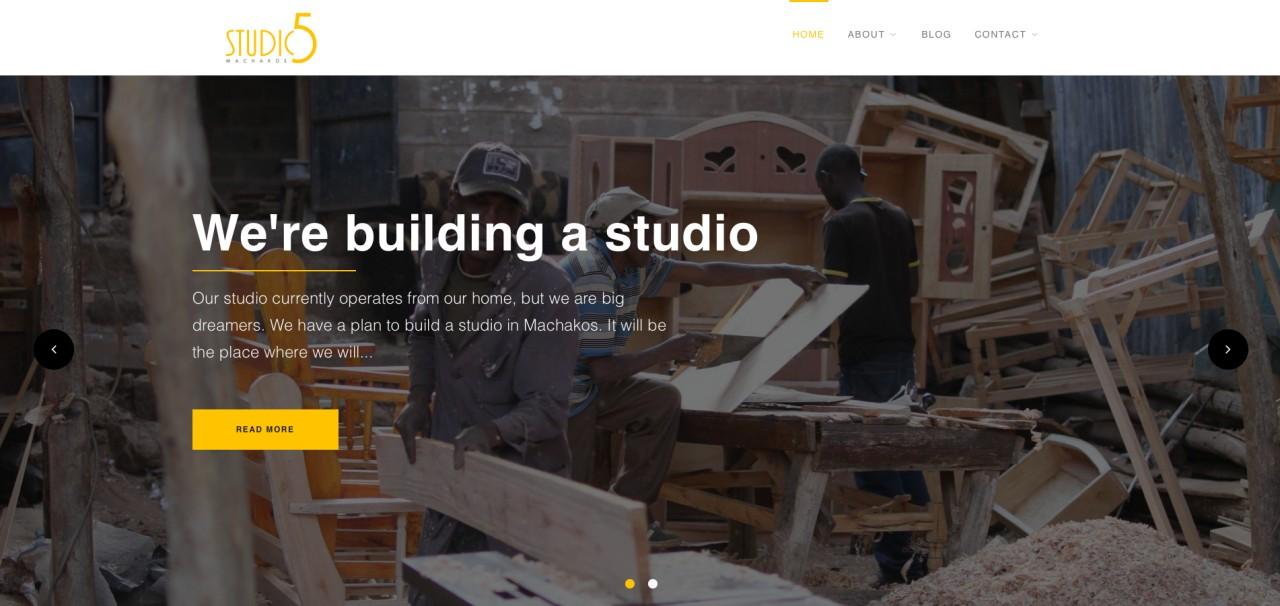 Studio 5 Machakos Website Screenshot